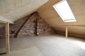 Storage attic with Velux Skylight. Construction stage
