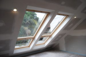 Two Velux Skylights interior view