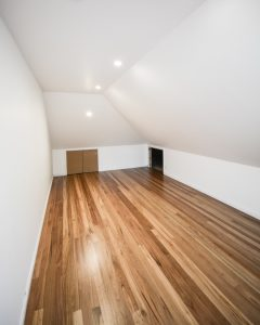 Deluxe storage attic conversion with floorboards and downlights