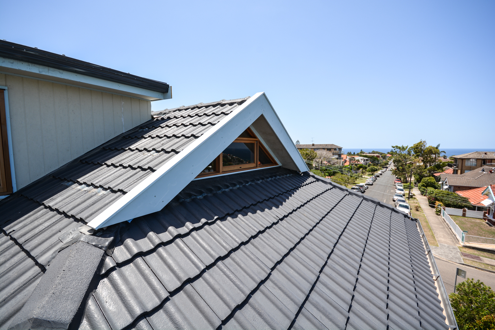 Attic extension roof view