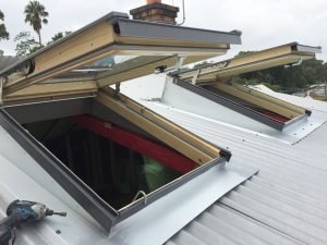 Open Velux Skylights from roof