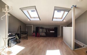 Deluxe storage attic in use after hand over