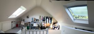 Habitable attic in use - bedroom/study