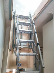 Fold down attic ladder