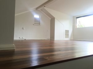 Attic conversion - habitable, well lit room with floorboards